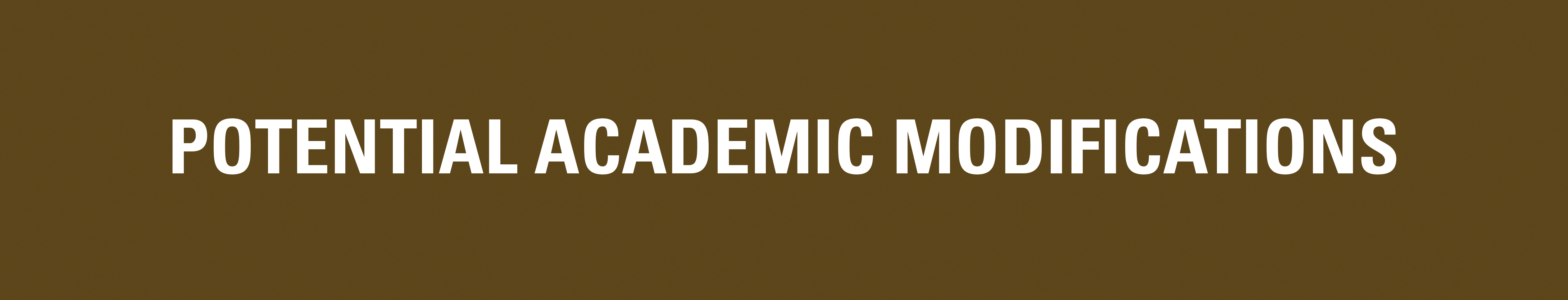 Potential Academic Modifications